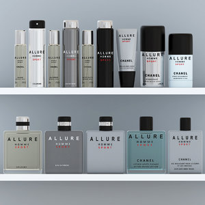 allure homme sport set 3D model