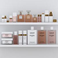 3D coco mademoiselle perfume set model