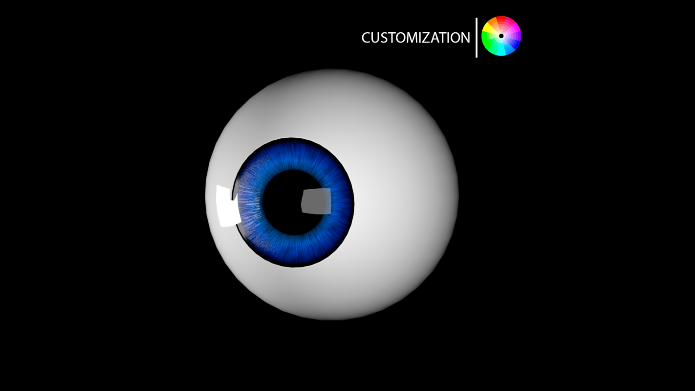 3D model cartoon eye
