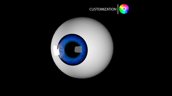 3D model cartoon eye