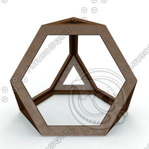 3D tetraedron apotetmimenon cenon model