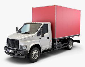 generic truck box v 3D model