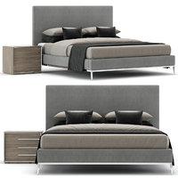3D model modern italia bed interior