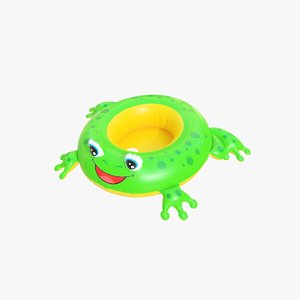 realistic pool toy frog 3D model