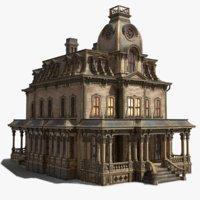 3D vintage victorian house