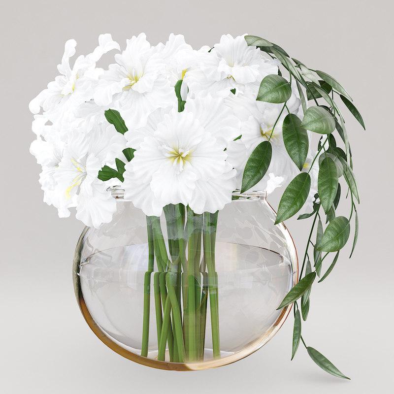 white irises 3D model