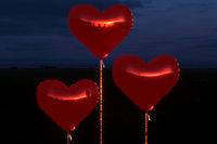 bolls heart red