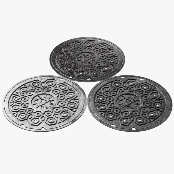 manhole cover hole 3D model