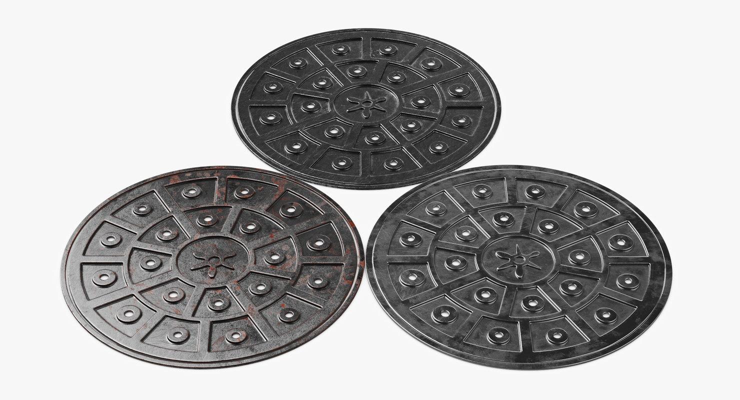 manhole cover hole 3D model