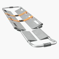3D aluminium folding scoop stretcher model