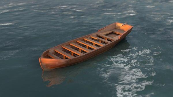 3D wooden boat
