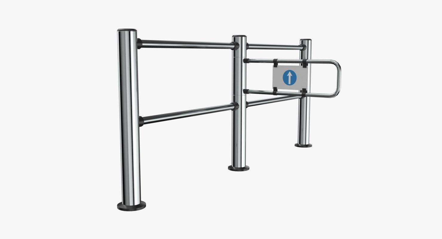 3D turnstile gate model