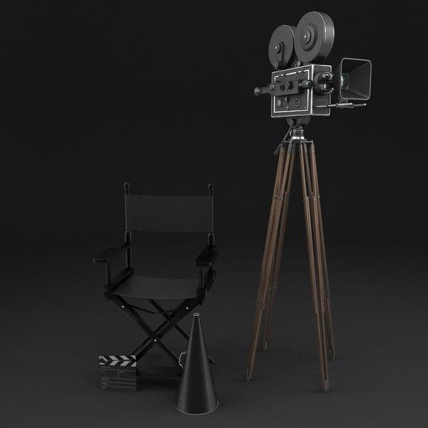classic movie camera 3D model