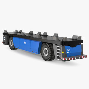 3D electric agv generic trailer