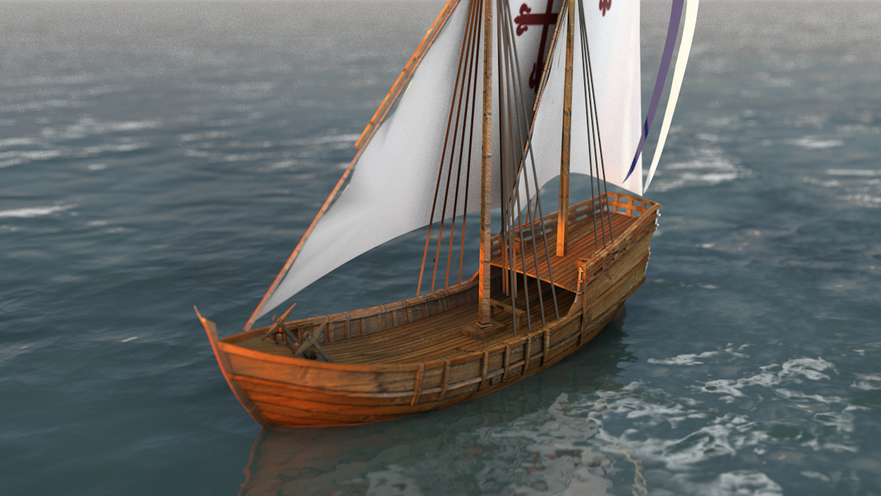 caravel sail boat 3D model