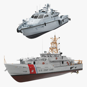 patrol guard ships 3D model
