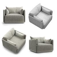 3D menu offset armchair model