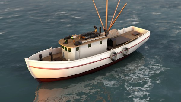 shrimp fishing boat 3D