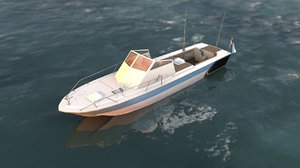 small recreational motorboat 3D model