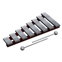 3D xylophone musical instrument percussion