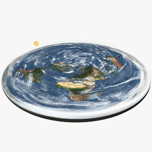 flat earth clouds 3D model