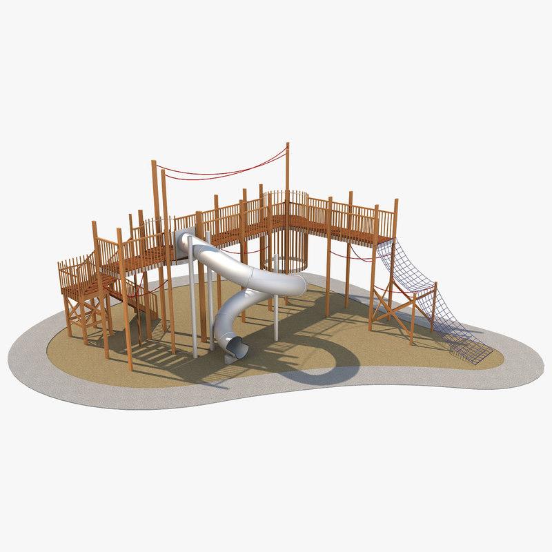 playground ground play 3D model