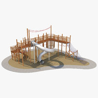 playground ground play 3D model