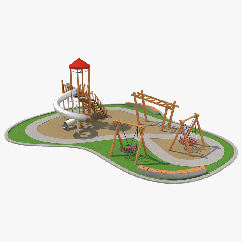 3D playground ground play