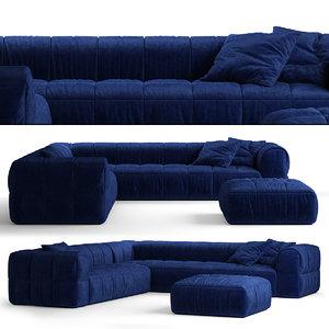 arflex strips sofa c 3D model