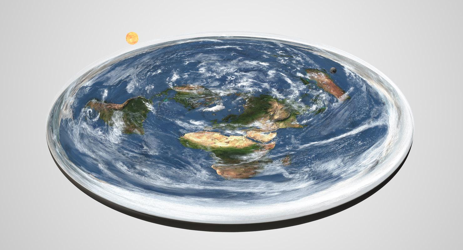 flat earth clouds 3D model