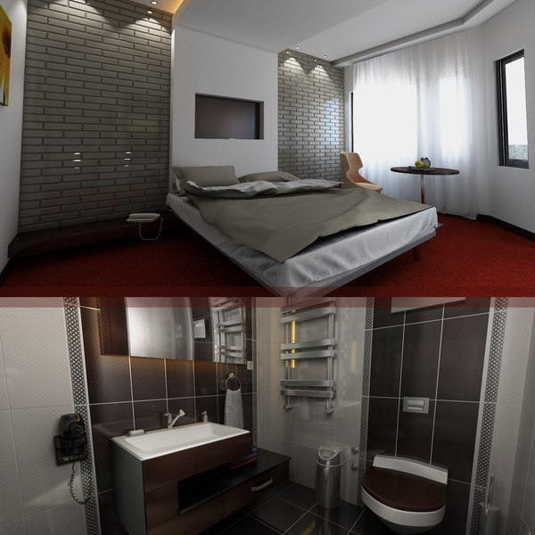 3D model hotel room