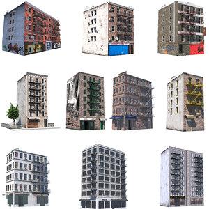 3D model nyc buildings 10