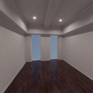 modern interior scene 3D