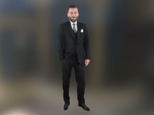 scanned groom wedding 3D