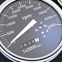 speed meter 3D model