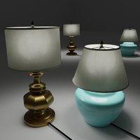 table lamps 3D model
