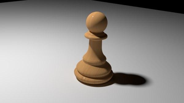 3D chess pawn model