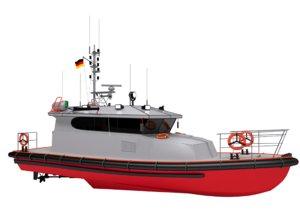 search boat 3D model