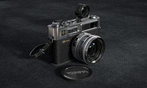 3D model classic camera yashica 35