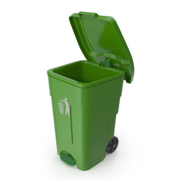 3D outdoor plastic pedal wheelie bin