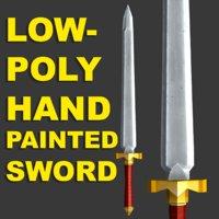 3D sword low-poly model