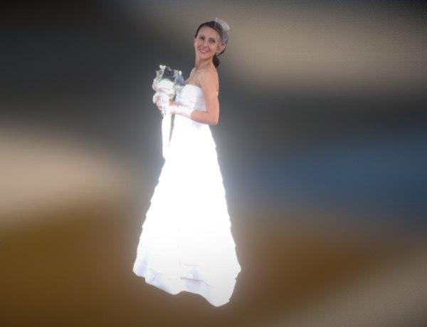 scanned bride 3D model