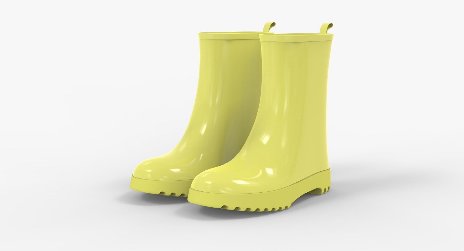 kid rubber boots model