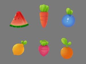 3D model food props