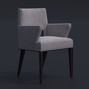 chair victor arm furnishing 3D model