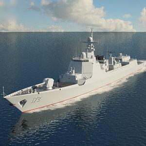3D model type 052d destroyer