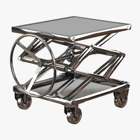 3D industrial lift stainless steel model