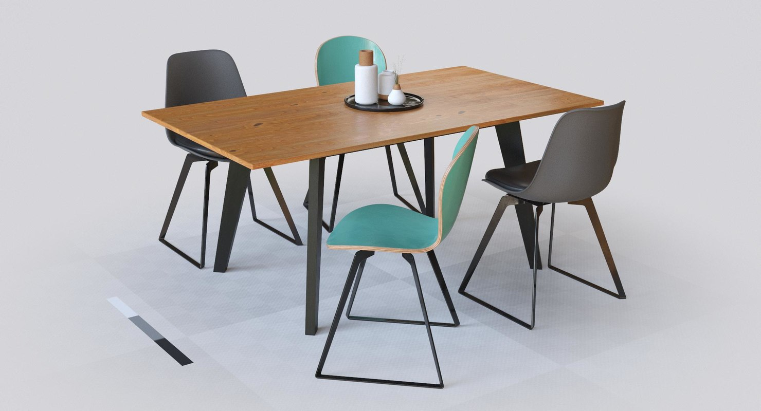 dining set 1 3D