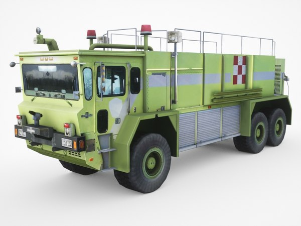 3D oshkosh ti-3000 arff airport model