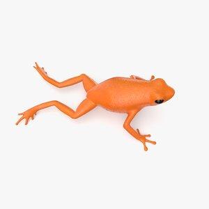 orange poison dart frog model